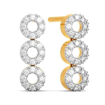 Trinity Tier Diamond Earrings