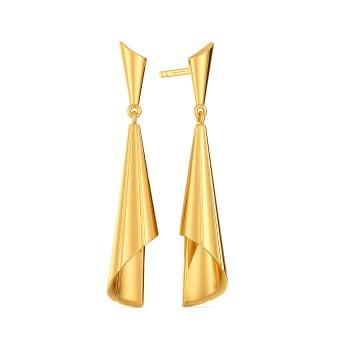 Twirl in Tassels Gold Earrings