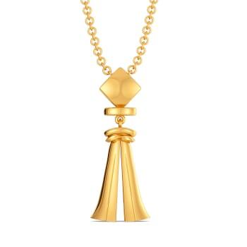 Tassel Tuft Gold Pendants