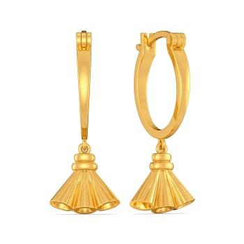 Tassel Tied Gold Earrings