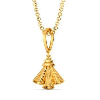 Tassel Tied Gold Pendants