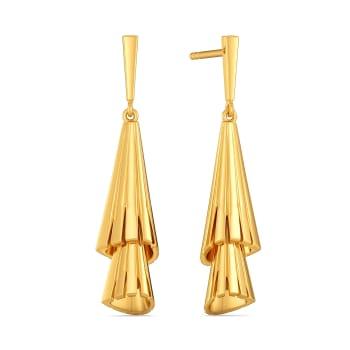 Tassel Ended Gold Earrings