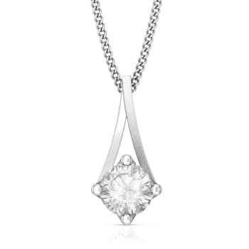 Pristine White Diamond Pendants