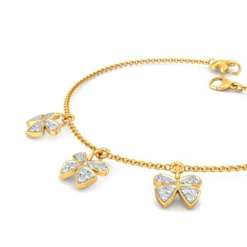 Open Wings Diamond Bracelets