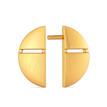 Polished Picks Gold Earrings