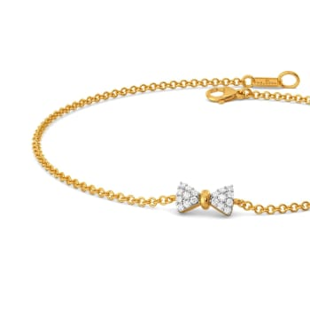 Sole Bow Diamond Bracelets