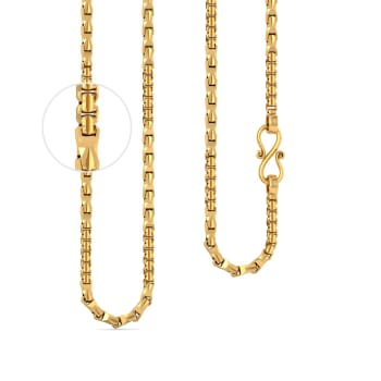 22kt Multi-Faceted Single Link Chain Gold Chains