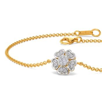 Vogue of Heart Diamond Bracelets