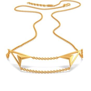 Curvy Contours Gold Necklaces