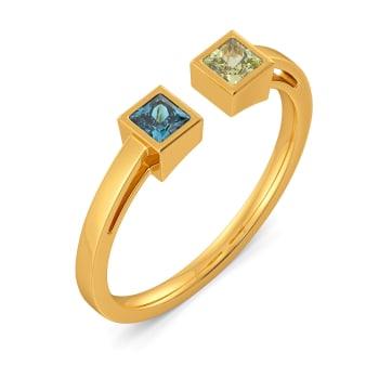 Twin Themed Gemstone Rings