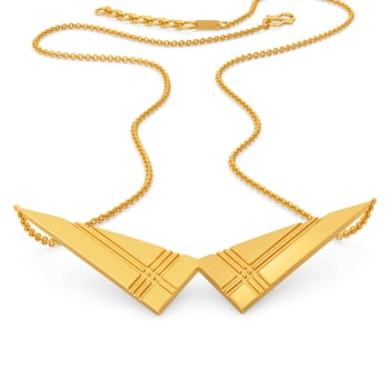 Plaid to Plot Gold Necklaces