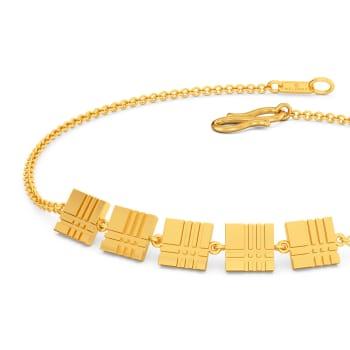 Plaid Puns Gold Bracelets
