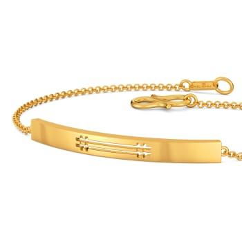 Maverick Plaids Gold Bracelets