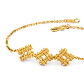 Cross Contours Gold Bracelets
