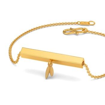 Stylised Flora Gold Bracelets