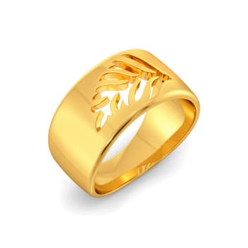 Turn of Ferns Gold Rings