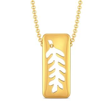 Turn of Ferns Gold Pendants