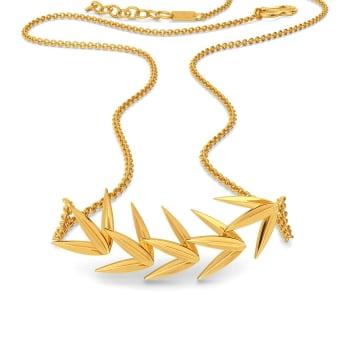 Fun o Fern Gold Necklaces