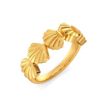 Shell Along Gold Rings