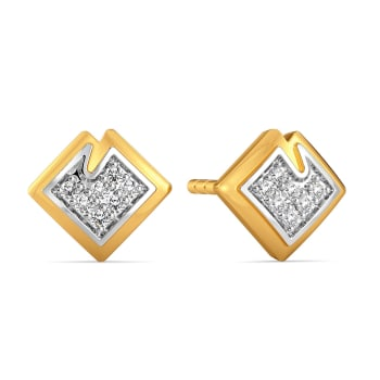 Stun A Fern Diamond Earrings