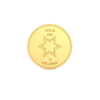 1 g 22 kt Gold Coin Gold Coins