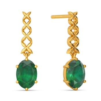 Edgy Emerald Gemstone Earrings
