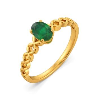 Edgy Emerald Gemstone Rings