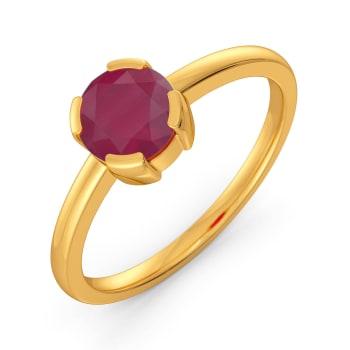 Rock N Roll Ruby Gemstone Rings