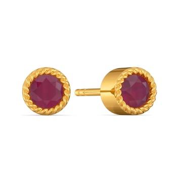 Crimson Crush Gemstone Earrings