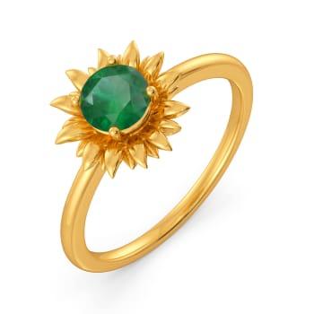 Fern O Floral Gemstone Rings