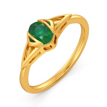 Shamrock Square Gemstone Rings