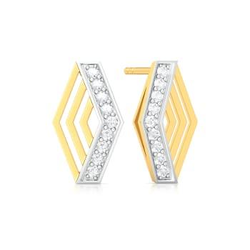 Criss-Cross Diamond Earrings
