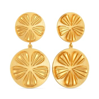 Twin Tale Gold Earrings