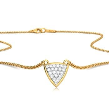 Triangle Bedazzle Diamond Necklaces