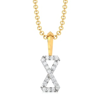 Bow Glow Diamond Pendants