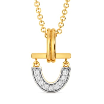 U Tubed Diamond Pendants