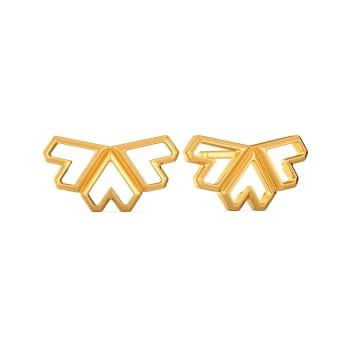 Love Rendition Gold Earrings