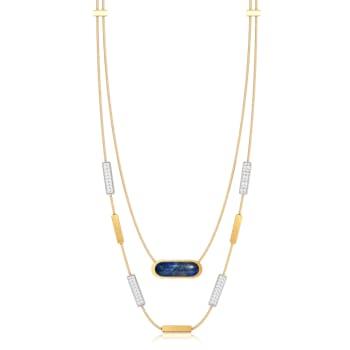 Indigo Denim Gemstone Necklaces