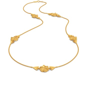 Floral Frills Gold Necklaces