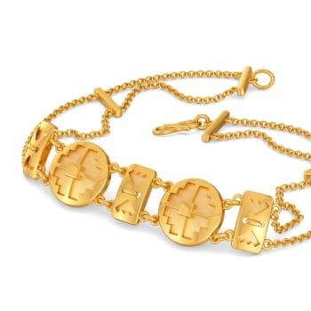 Woven Victorian Gold Bracelets
