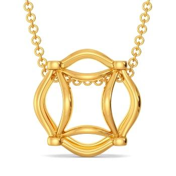 Bohemian Nets Gold Pendants