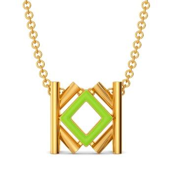 Kinky Greens Gold Pendants
