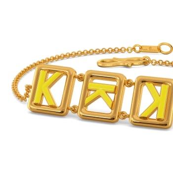 Knotty Hue Gold Bracelets