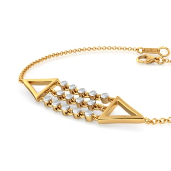 Dangle Triangle Diamond Bracelets