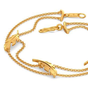 Feather Fantasies Gold Bracelets