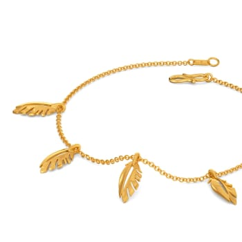 Fab Feather Gold Bracelets