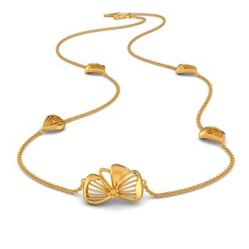 Flower Afar Gold Necklaces
