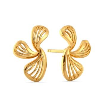 Pair A Petal Gold Earrings