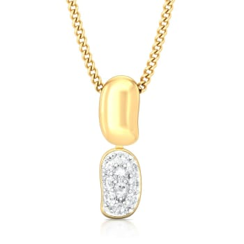 Bean gleam Diamond Pendants