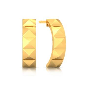 Hoop Terrains Gold Earrings